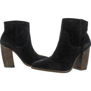 "Nine West ""Beata"" slip on ankle boot black sz 9.5 M BNIB suede"